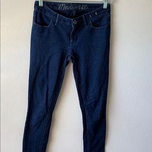 Madewell Dark Wash Skinny Jeans